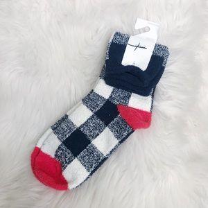 Aerie NWT Checkered Fuzzy Socks
